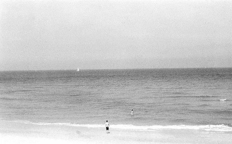 Simcha Shirman b. 1947 Couple on the Beach Gelatin
