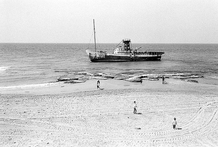 Simcha Shirman b. 1947 Boat by the Shore Gelatin