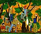 Yochanan Simon 1905 - 1976 Orange Picking in the, Yohanan Simon, Click for value
