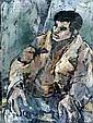 Gershon Knispel b. 1932 Street at Sunset, Oil on, Gershon Knispel, Click for value