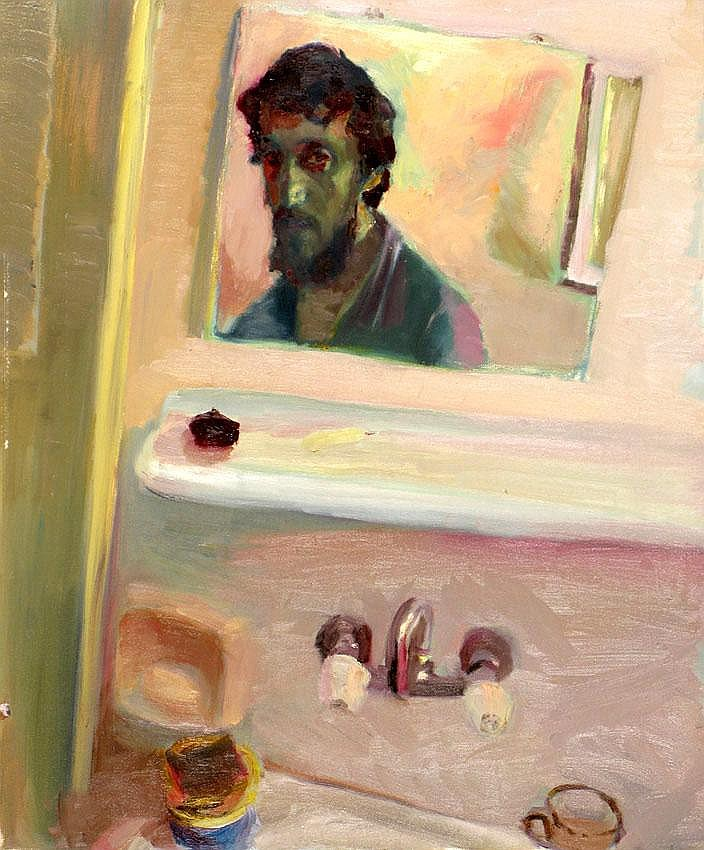 Leonid Balaklav b. 1956 Self-Portrait, Oil on