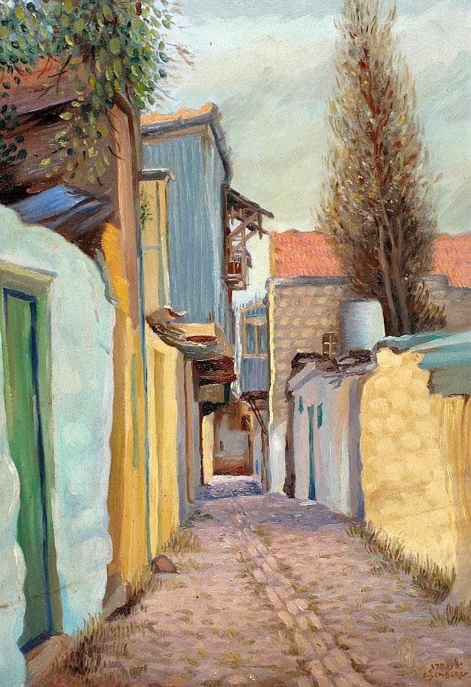 Jacob Eisenberg 1897 - 1966:  A Passageway in Safed