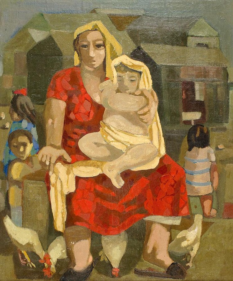 Leo Roth 1914 - 2002:  A Woman and Her Son in a Ma'abara