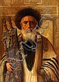 Konstantin Szewczenko 1915 - 1991:  Rabbi with Torah, Konstantine  Szewczenko, Click for value