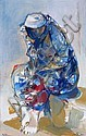 Ruth Schloss b. 1922:  Seated Woman, Ruth Schloss, Click for value