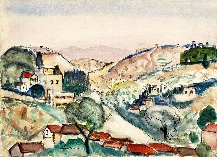Elias Newman 1903 - 1999:  Landscape