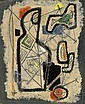 Aharon Kahana 1905 - 1967:  Abstract Figures, Aharon Kahana, Click for value