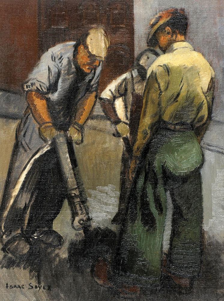 Isaac Soyer 1907 - 1981:  Construction Workers