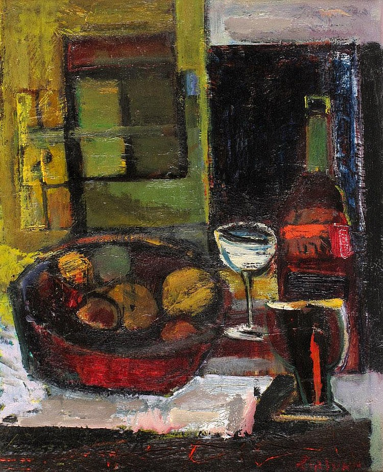 Zvi Mairovich 1911 - 1974 Still Life with White Goblet,