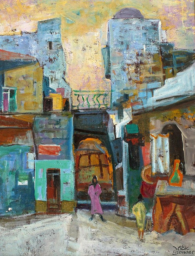 Izhak Frenkel - Frenel 1899 - 1981 Figures in Safed
