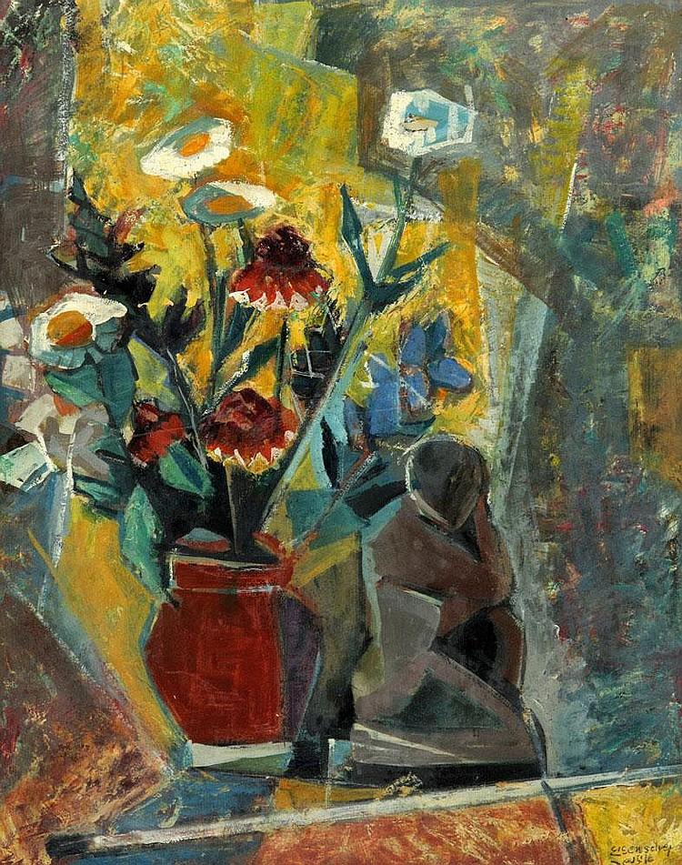 Jakob Eisenscher 1896 - 1981 Sculpture and Vase