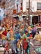Nachum Gilboa b. 1917 The Jewish Market, New York,, Nahum  Gilboa, Click for value
