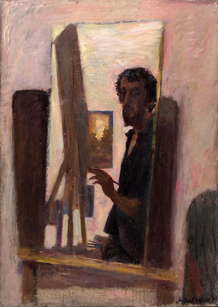 Leonid Balaklav b. 1956 Self-Portrait in the Studio