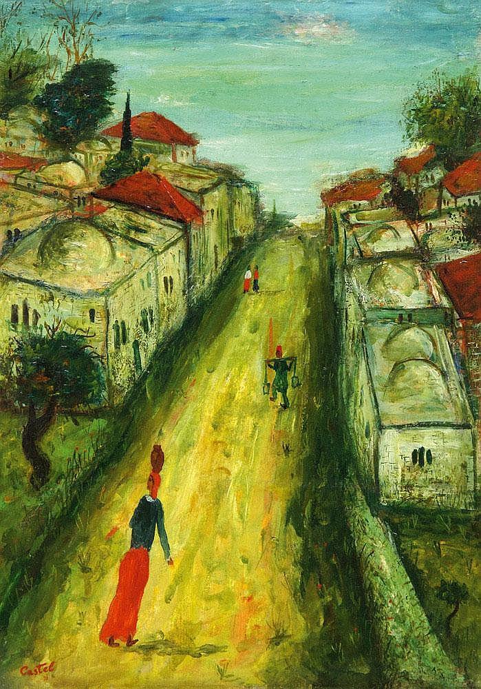 Moshe Castel 1909 - 1991 A Street in Safed