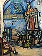 Miron Sima 1902 - 1999 Figures in the Synagogue,, Miron Sima, Click for value
