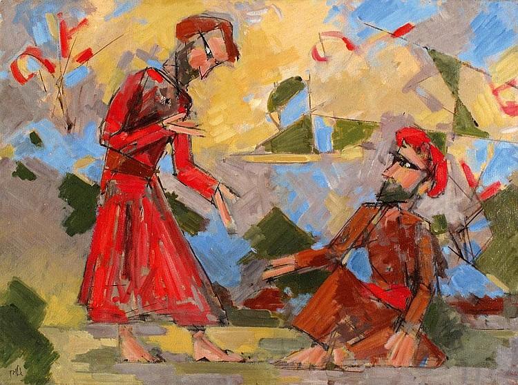 Arie Lubin 1897 - 1980 Oriental Figures
