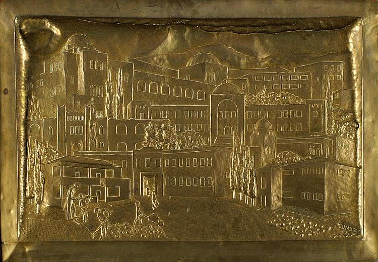 Zeev Ben-Zvi 1904 -1952 Figures in the Old City of Jerusalem,