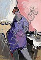 Isaac Tarkay b. 1935 Young Girl, Itzchak Tarkay, Click for value