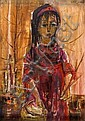 Ruth Schloss b. 1922 Flower Seller, Ruth Schloss, Click for value
