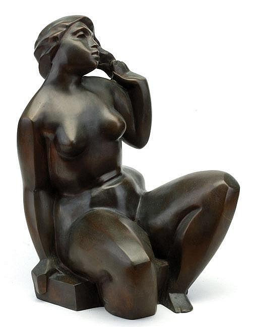 Jacob Epstein 1921 - 2003 Nude Bronze Signed and