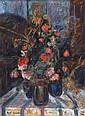 Zvi Shor 1898 - 1979 Flower Vases Oil on canvas, Zvi Schorr, Click for value