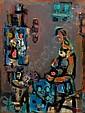 Jacob Wexler 1912 - 1995 Model in the Studio Oil, Jacob Wexler, Click for value