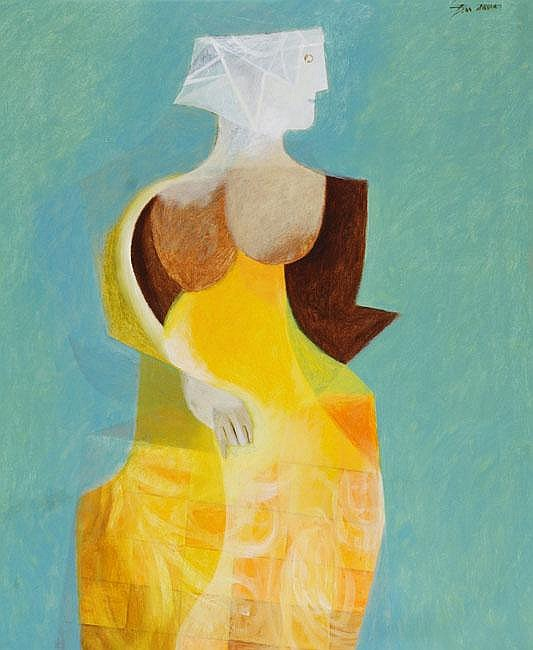 Jean David 1908 - 1983 Woman Oil on canvas Signed