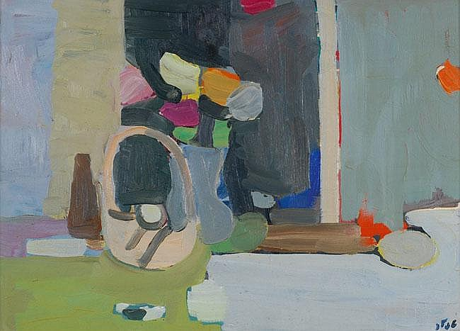 Shmuel Tepler 1918 - 1998 Vase of Flowers Oil on
