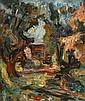 Zvi Shor 1898 - 1979 Landscape Oil on canvas, Zvi Schorr, Click for value