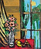 Jacob Wexler 1912 - 1995 Flowers on the Window, Jacob Wexler, Click for value