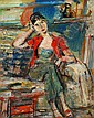 Sigmund Menkes 1896 - 1986 Girl with a Red Jacket, Sigmund Joseph Menkes, Click for value