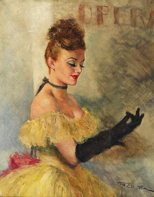 Frid Pal 1893 - 1976 Dancer Oil on canvas Signed