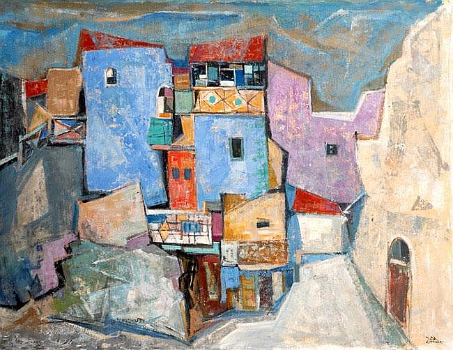 Jakob Eisenscher 1896 - 1980 Jerusalem Oil on