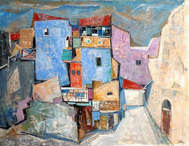 Jakob Eisenscher 1896 - 1980 Jerusalem Oil on