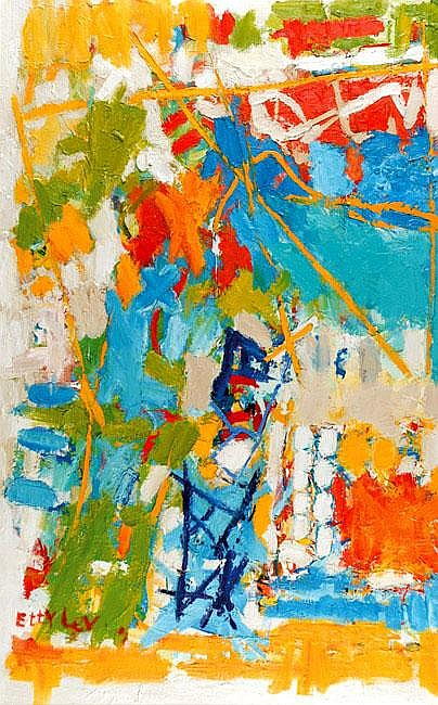 Etty Lev b. 1941 Untitled Oil on canvas Signed