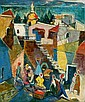 Jakob Eisenscher 1896 - 1980 Figures in the Old, Yaacov Eisenscher, Click for value