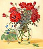 Shmuel Charuvi 1897 - 1965 Vase of Flowers Oil on, Shmuel Charuvi, Click for value