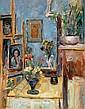 Zvi Shor 1898 - 1979 Interior Oil on canvas, Zvi Schorr, Click for value