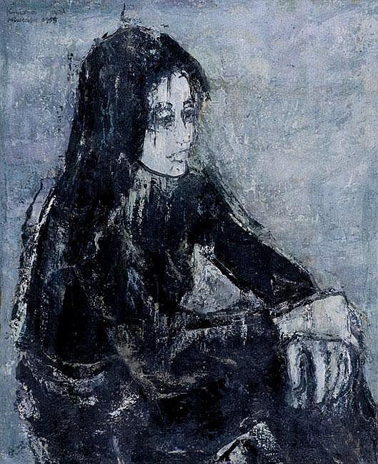 Gershon Knispel b. 1932 Ballerina at Rest Oil on