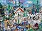 Menachem Shemi 1897 - 1951 Safed Landscape Oil on, Menahem Shemi, Click for value