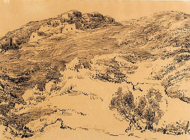 Leopold Krakauer 1950 - 1890 Jerusalem Mountains