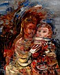 Alfred Aberdam 1894- 1963 Children Oil on canvas, Alfred Aberdam, Click for value
