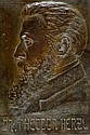 Boris Schatz 1932-1867 Herzel Bronze relief, Boris Schatz, Click for value