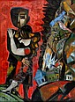 Leo Roth 1914 - 2002 Lovers Oil on canvas Signed, Leo Roth, Click for value