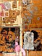 Yair Garbuz b. 1945 Conversation Oil and pasting, Yair Garbouz, Click for value