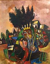 Leo Roth 1914 - 2002, The King, Oil on canvas,