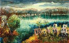 Nachum Gilboa b. 1917, Trees, Oil on board,