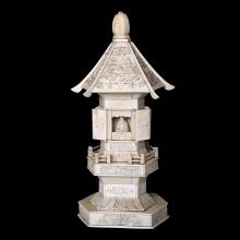 A JAPANESE CARVED IVORY PAGODA