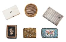 A COLLECTION OF SIX VARIOUS SNUFF BOXES