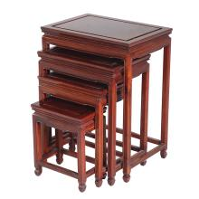 A SET OF FOUR CHINESE ROSEWOOD NEST TABLES